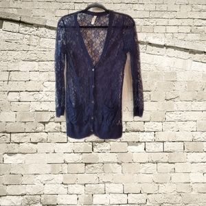 Great used condition lace cardigan.